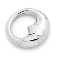 Sterling Silver Moon Baby Rattle