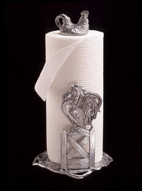 Arthur Court Rooster Paper Towel Holder
