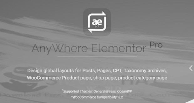 AnyWhere Elementor Pro - Global Post Layouts