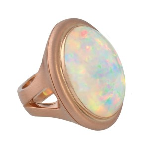 Silverhorn rose gold opal ring