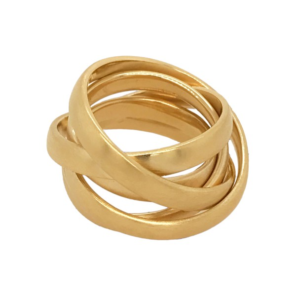 Silverhorn Continuous band of gold ring