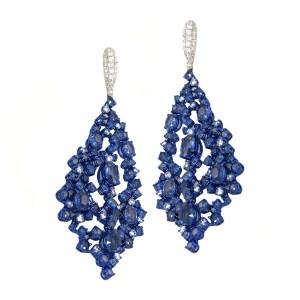Silverhorn Sapphire and Diamond earrings