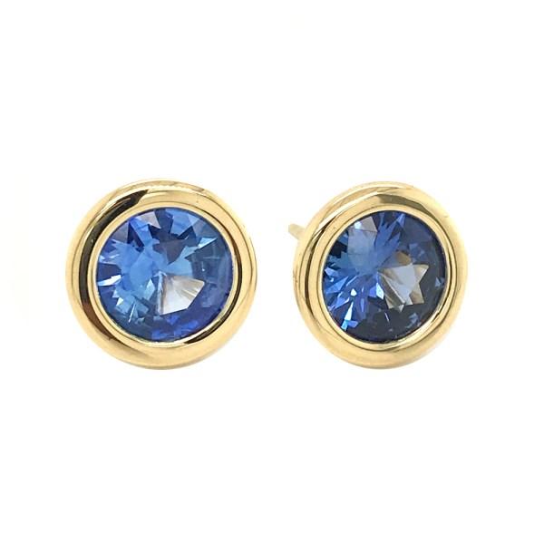 Silverhorn Sapphire and gold earrings