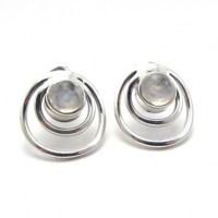 Rainbow moonstone stud earring - Silver Jewellery Ireland