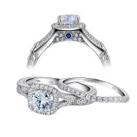 Newshe Women Vintage White Cubic Zirconia 925 Sterling ...