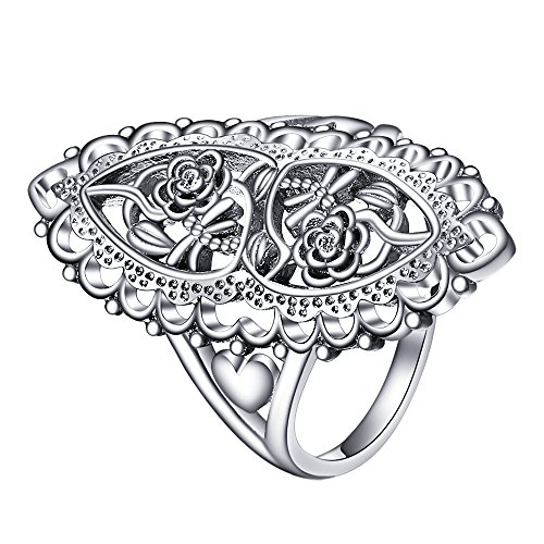 Angemiel Jewelry 925 Sterling Silver Openwork Flowers and
