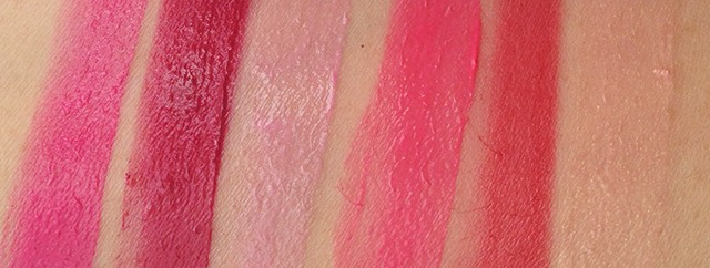 Shu Uemura x Karl Lagerfeld Holiday 2014 Shupette Has-It-All Palette lip color swatches