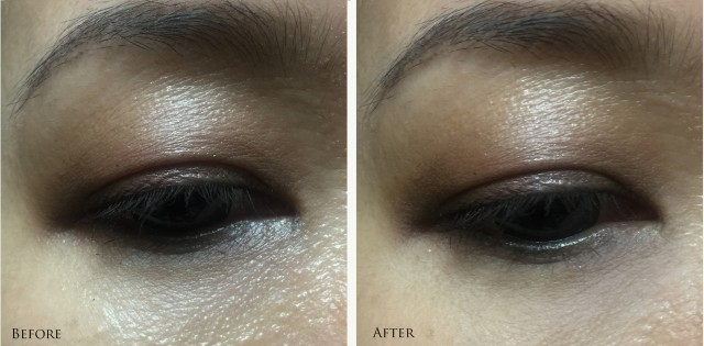 Estee Lauder New Dimension Firm + Fill Eye System before after comparison