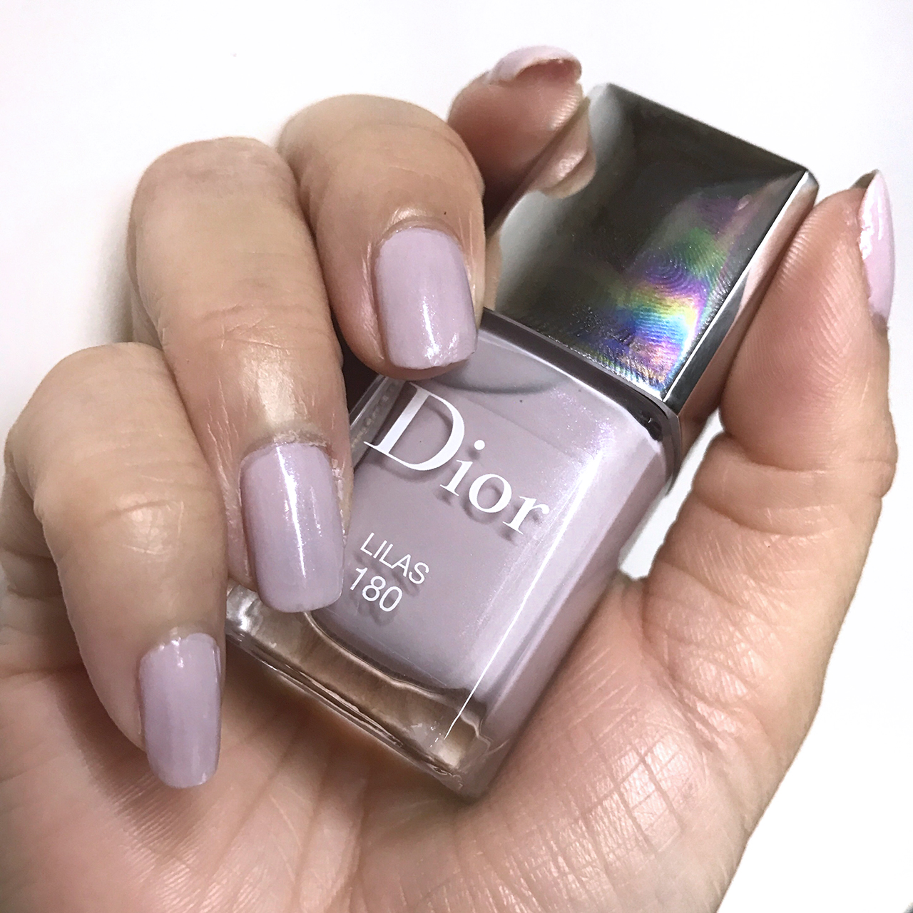 Dior Le Vernis Lilas nail swatch