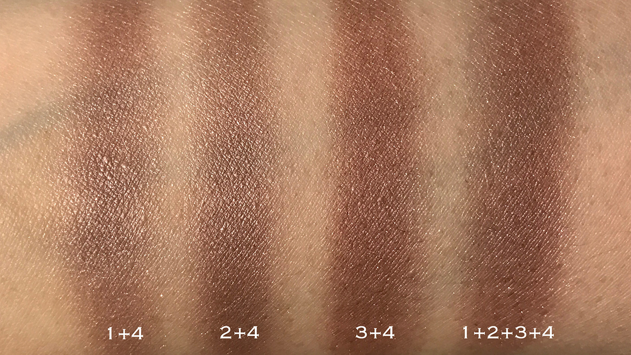 SUQQU Designing Color Eyes 02 blended swatches