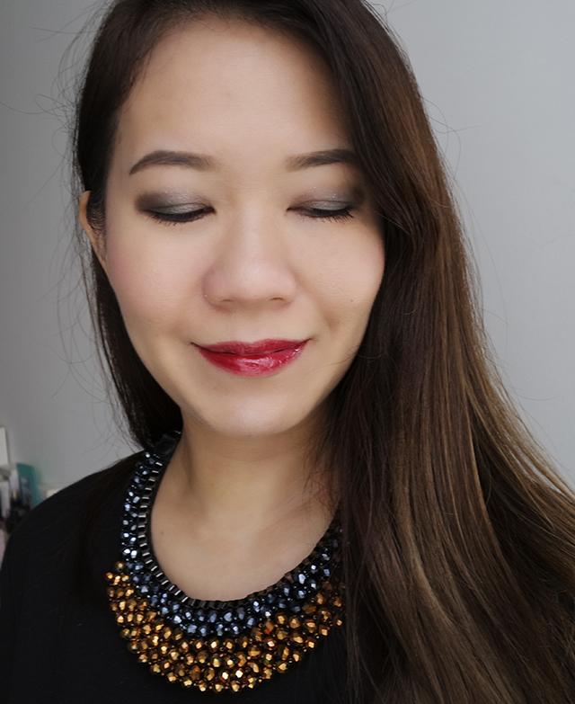 RMK Seductive Love Palette Garden Spirit makeup look