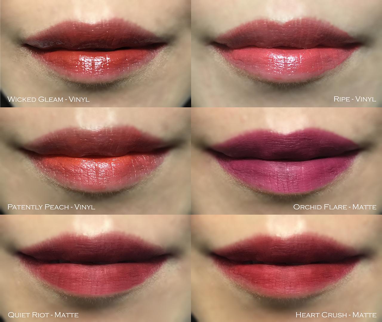 Estee Lauder Pure Color Envy Liquid Lip Color swatches