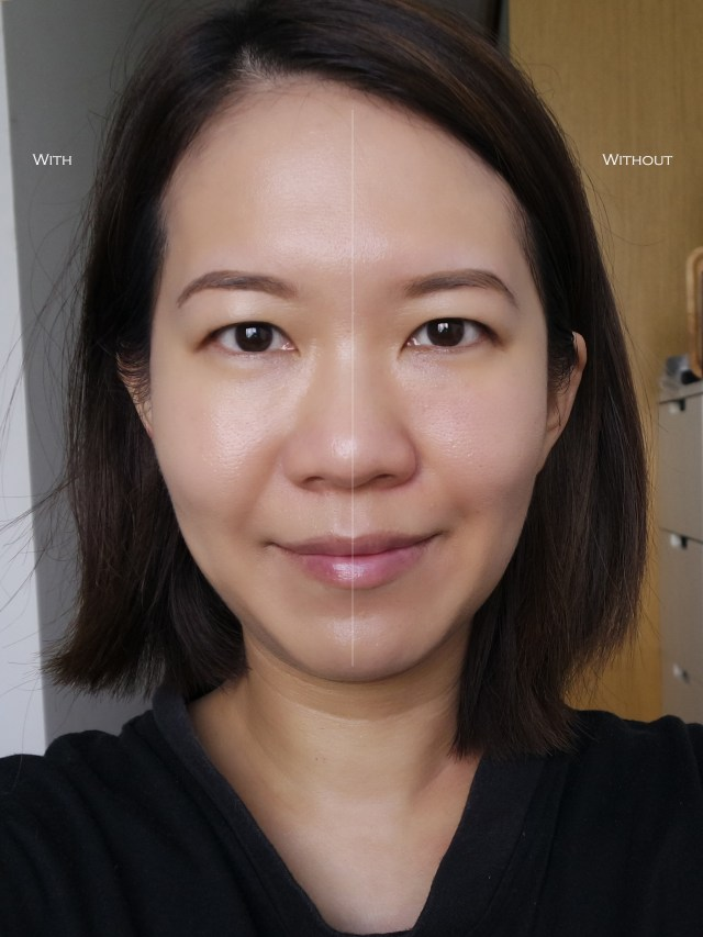 Chanel Les Beiges Sheer Healthy Glow comparison shot
