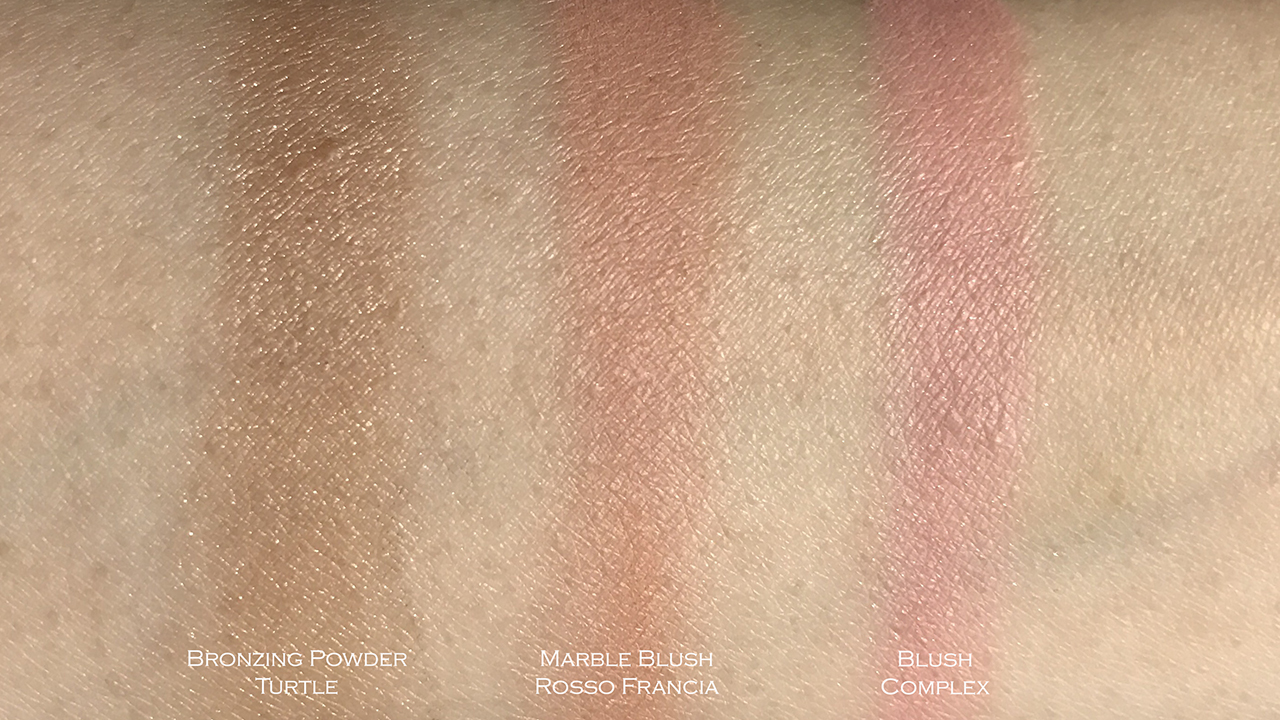 Make Up Store cheek swatches