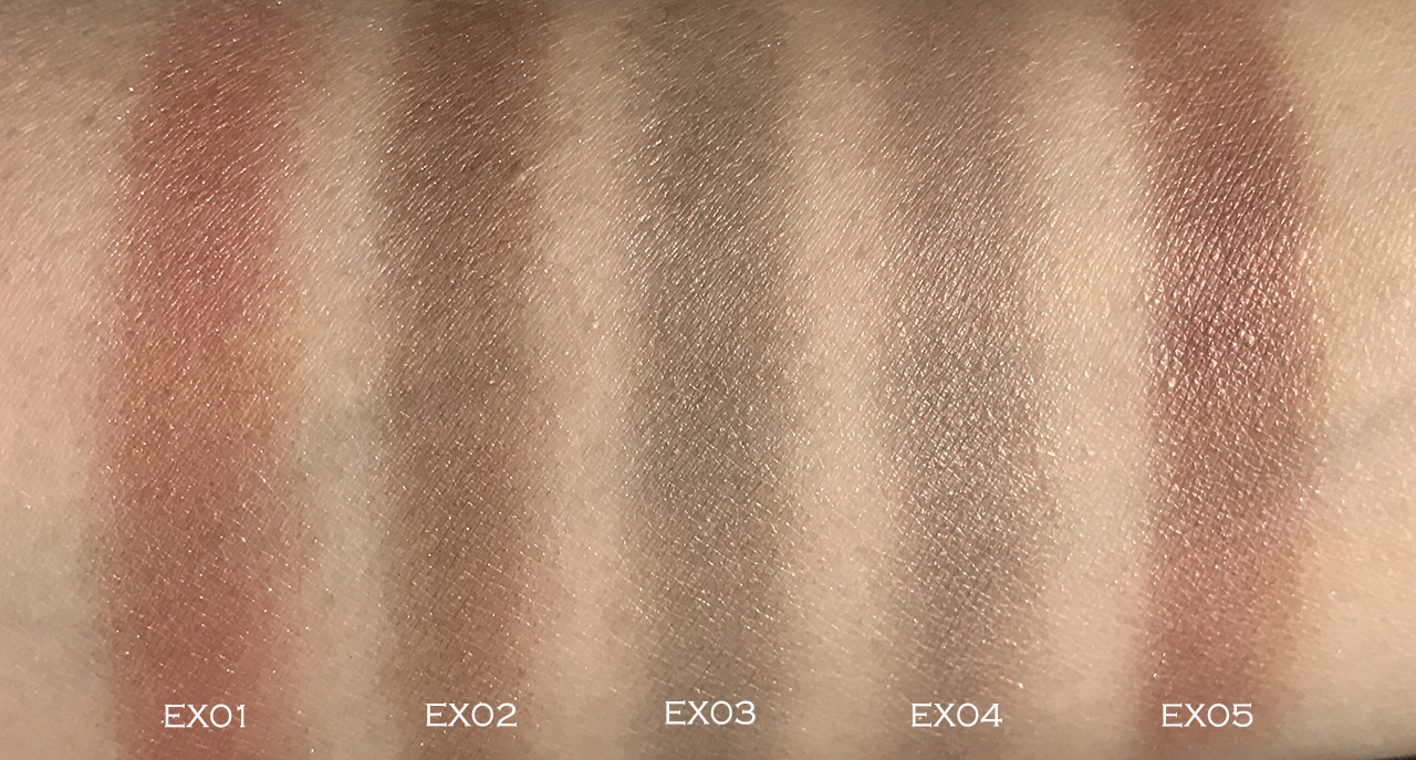 Lunasol AW2018 Melting Colour Eyes swatches