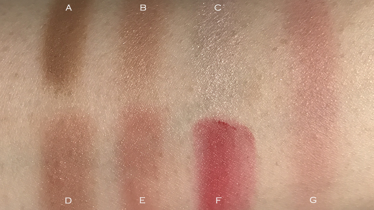 THREE Life of the Party Palette swatches