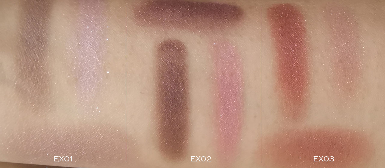 Lunasol Deep Veil Eyes swatches