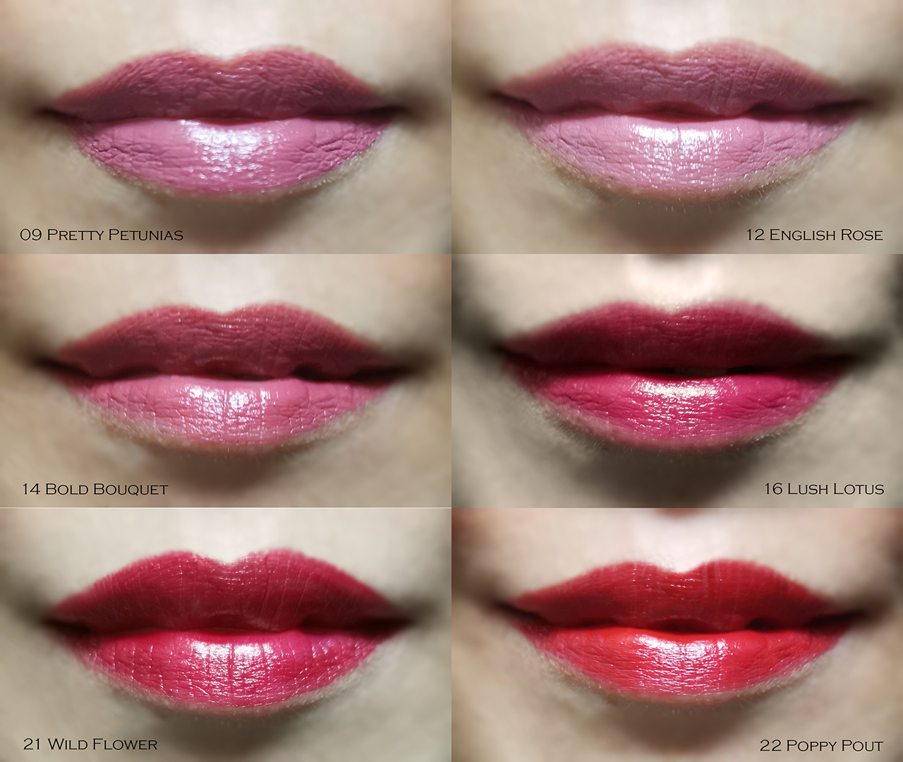 Origins Blooming Bold Lipstick lip swatches