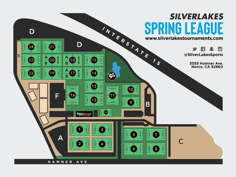 Spring League Map April