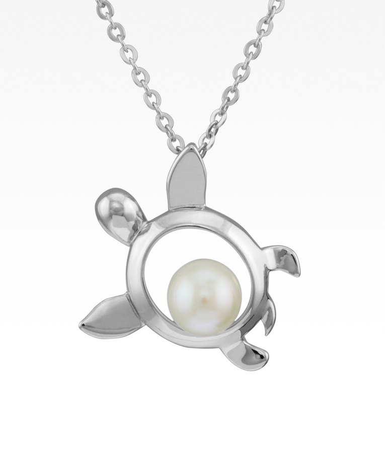 Sea Turtle with Pearl Necklace