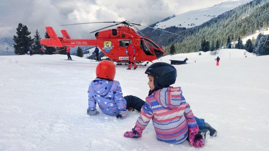 helikopter w Alpach