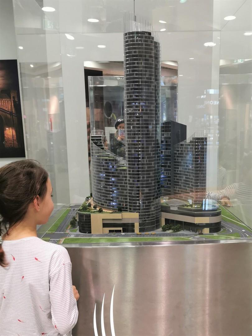Wrocław z dziećmi, makieta Sky Tower