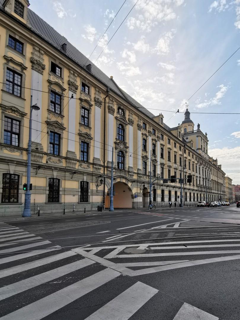 Uniwersytet Wrocławski, widok od ul. Grodzkiej