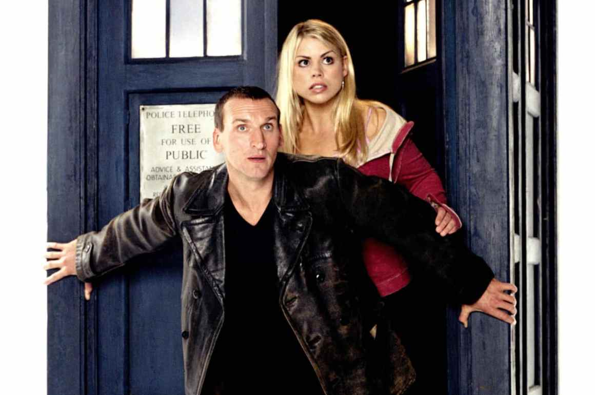 Rose Tyler (Billie Piper) and the 9th Doctor (Christopher Eccleston). Photo: BBC