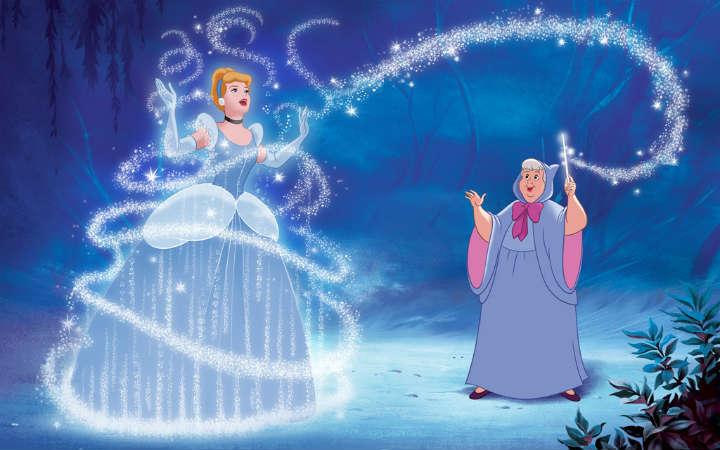 Image result for fairy godmother transforming cinderella