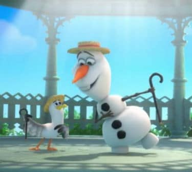 Olaf Dances Photo: Disney