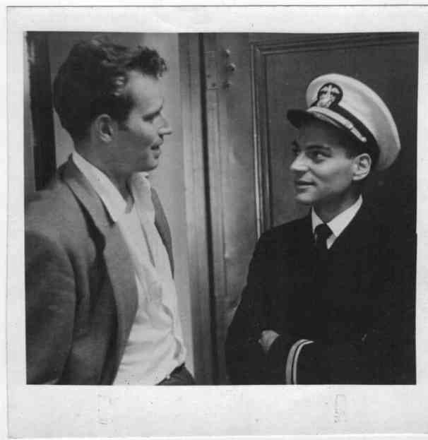Johnny with Charlton Heston. Photo Courtesy of Vision Films.