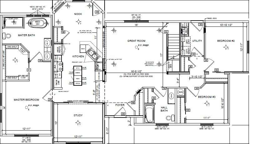 The Lewisburg Ranch Style Modular Home has Features that