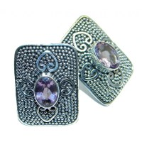 Unique NATURAL Amethyst Sterling Silver stud earrings - 4 ...