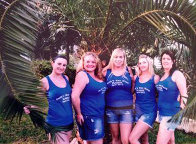 hen party printed vests