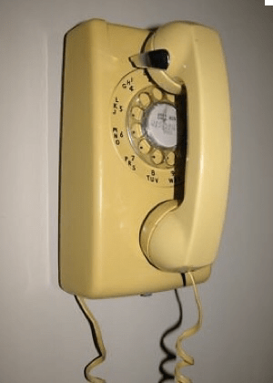 Yellow Rotary Telephone, Service provided by New York Telephone, forerunner to Verizon