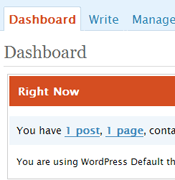 WordPress 2.4 Dashboard Snippet - Small