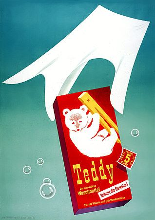Teddy The Modern Laundry Detergent C.1950s