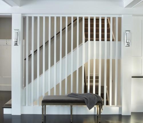 Vertical slats for the staircase  Silver SpraySilver Spray