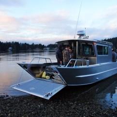 West Marine Chairs Metal Chiavari Wholesale 25' San Juan Landing Craft Cabin Aluminum Boat By Silver Streak Boats
