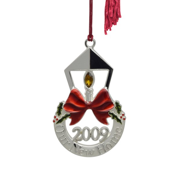 Gorham 2009 Home Silver Christmas Ornament