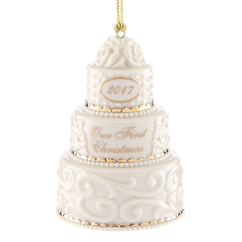 Our First Christmas Ornament 2017 Wedding Cake  Lenox Christmas Ornaments