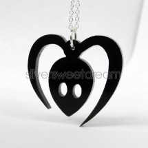 Tokio Hotel Alien Logo Necklace Symbol Pendant Collar
