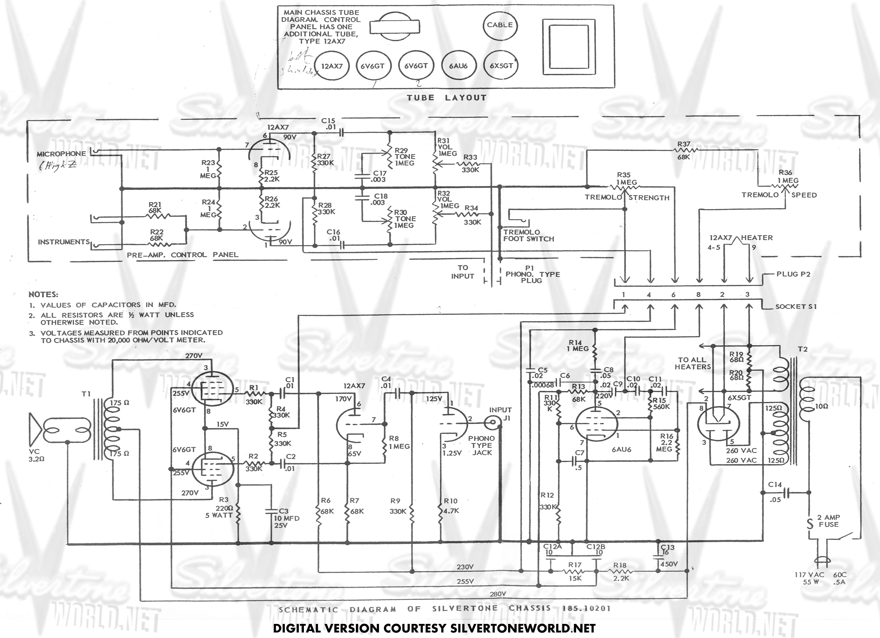 Silvertone Guitar Wiring Diagram : 32 Wiring Diagram