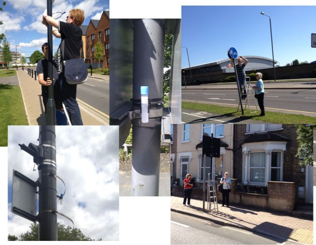 13 volunteers placed 56 NO2 diffusion tubes around Greenwich borough