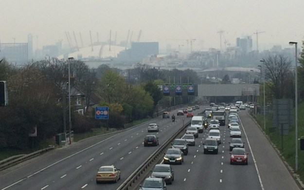 Hidden awaySmog and traffic which can only get heavier: Charlton Road, 5pm on 2 April