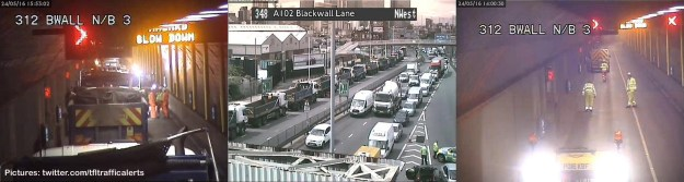 Delays hit the Blackwall Tunnel