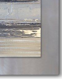Contemporary Square Silver Grey II - Silver Wall Art ...