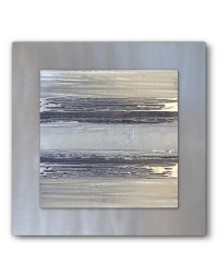 Contemporary Square Silver Grey II - Silver Wall Art ...