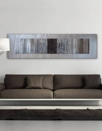 Echo Black - Silver Wall Art, Contemporary Art UK