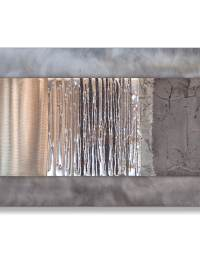champagne pewter silver wall art detail - Silver Wall Art ...